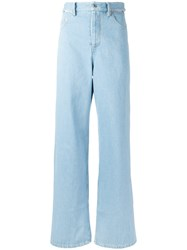 Y Project Flared High Waist Jeans Blue