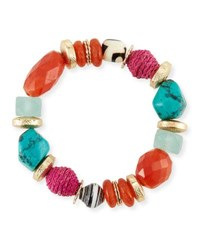 Akola Beaded Stretch Bracelet Multi
