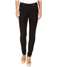 Michael Michael Kors Solid Pull On Leggings Black Women's Casual Pants