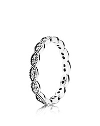 Pandora Design Pandora Ring Sterling Silver And Cubic Zirconia Sparkling Leaves
