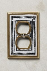 Anthropologie Rosalita Switch Plate Black