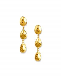 Gurhan Triple Nugget Drop Earrings In 24K Gold