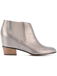 Golden Goose Deluxe Brand Wide Ankle Boots Women Leather 41 Metallic