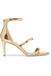 Tamara Mellon Horizon Pvc Trimmed Metallic Leather Sandals