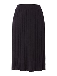 Biba Knitted Pleated Skirt Black
