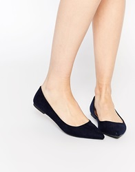 Oasis Pointed Flat Shoes Navy