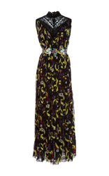 Giamba Banana Print Sleeveless Dress Black