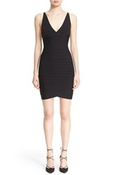Women's Herve Leger V Neck Bandage Dress