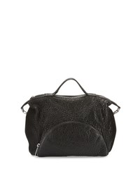 L.A.M.B. Johanna Grained Leather Shoulder Bag Black