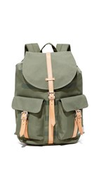 Herschel Dawson Backpack Deep Lichen Green Stripe Tan