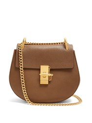 Chloe Drew Small Leather Cross Body Bag Khaki