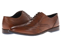 Hush Puppies Style Brogue Tan Leather Men's Lace Up Wing Tip Shoes