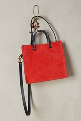 Anthropologie Clare V. Petit Simple Tote Red
