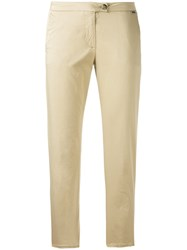 Woolrich Slim Fit Cropped Trousers Women Cotton Spandex Elastane 27 Nude Neutrals