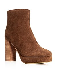 See By Chloe Chunky High Heel Platform Booties Whisky