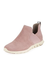 Cole Haan Zerogrand Suede Slip On Sneakers Twilight Mauve