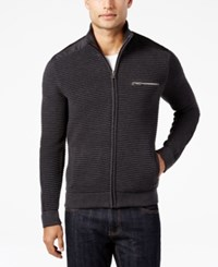 Inc International Concepts Men's Hale Ottoman Sweater Jacket Only At Macy's Heather Onyx