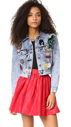 Alice Olivia Chloe Denim Jacket Indigo