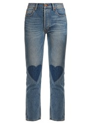 Bliss And Mischief Love High Rise Straight Leg Cropped Jeans Denim