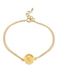 Dogeared Sterling Silver And 14K Gold Dipped St. Christopher Chain Bracelet