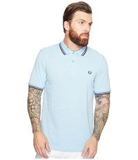 Fred Perry Twin Tipped Shirt Glacier Cobalt Bramble Men's Short Sleeve Knit Gold