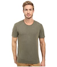 Agave Banner Short Sleeve 100 Cotton Slub Tarmac Men's Short Sleeve Pullover Olive