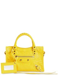 Balenciaga Mini Classic City Leather Bag Yellow