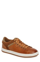 English Laundry Ireton Low Top Sneaker Cognac Leather Suede