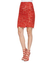Elle Sasson Helen Floral Lace Pencil Skirt
