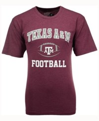 Colosseum Men's Texas A And M Aggies Football Arch Logo T Shirt Heather Maroon
