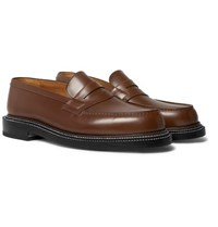 J.M. Weston 180 The Moccasin Leather Loafers Light Brown