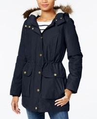Tommy Hilfiger Faux Fur Trim Hooded Parka Only At Macy's Masters Navy