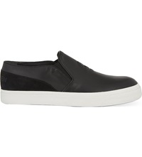 Alexander Mcqueen Skull Skate Slip On Trainers Black
