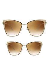 Diff Mommy And Me Becky 2 Pack Cat Eye Sunglasses Gold Brown Gold Brown