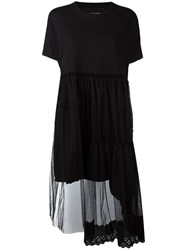 Simone Rocha Flared Trim Dress Black