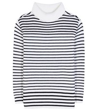 Atm Anthony Thomas Melillo Striped Wool Sweater White