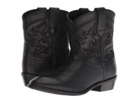 Dingo Willie Black Leather Cowboy Boots