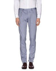 Royal Hem Trousers Casual Trousers Men Blue