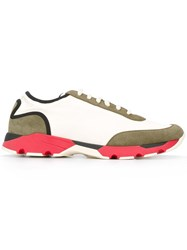 Marni Colour Block Low Top Sneakers Nude Neutrals