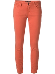 Dolce And Gabbana Skinny Trouser Yellow And Orange