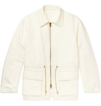 Camoshita Cotton And Linen Blend Canvas Field Jacket Off White