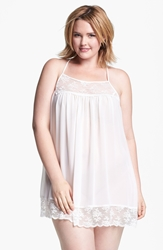 In Bloom By Jonquil Chiffon Chemise Plus Size Ivory