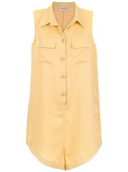 Adriana Degreas Buttoned Playsuit Yellow And Orange