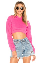 Lovers Friends Super Crop Hoodie Pink