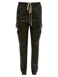 Rick Owens Drawstring Bonded Leather Trousers Black