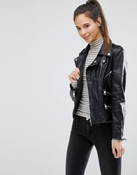 Only Studio Leather Jacket Black