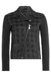 Karl Lagerfeld Tweed Biker Jacket Black