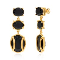 Alexandra Alberta Lexington Black Onyx Earring Black Gold Rose Gold