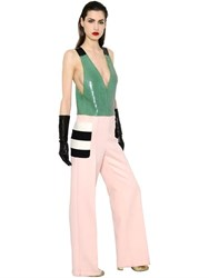 Max Mara Sequin And Felted Wool Jumpsuit
