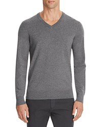 Theory Riland New Sovereign Slim Fit V Neck Sweater Grey Heather
